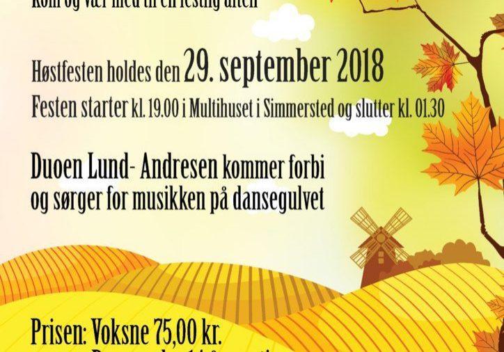 Høst Fest Plakat 2018